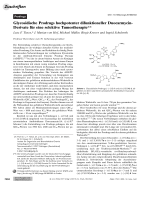 Glycosidische Prodrugs hochpotenter difunktioneller Duocarmycin-Derivate fr eine selektive Tumortherapie.
