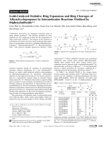 Gold-Catalyzed Oxidative Ring Expansions and Ring Cleavages of Alkynylcyclopropanes by Intermolecular Reactions Oxidized by Diphenylsulfoxide.