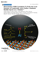 Heteronuclear NMR Correlations To Probe the Local Structure of Catalytically Active Surface Aluminum Hydride Species on -Alumina.