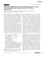 Hexameric Palladium(II) Terpyridyl Metallomacrocycles  Assembly with 4 4-Bipyridine and Characterization by TWIM Mass Spectrometry.
