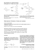 High-temperature Chlorination of Amines and Acylamines.