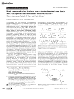 Hoch enantioselektive Synthese von -Aminosurederivaten durch NHC-katalysierte intermolekulare Stetter-Reaktion.