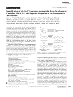 Identification of a 1 2 4 5-Tetraoxane Antimalarial Drug-Development Candidate (RKA182) with Superior Properties to the Semisynthetic Artemisinins.