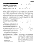 Influence of Cyclodextrin Molecules on the Synthesis and the Thermoresponsive Solution Behavior of N-Isopropylacrylamide Copolymers with Adamantyl Groups in the Side-Chains.