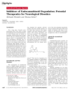 Inhibitors of Endocannabinoid Degradation  Potential Therapeutics for Neurological Disorders.
