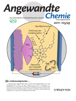 Innentitelbild  A Trisheteroleptic Cyclometalated RuII Sensitizer that Enables High Power Output in a Dye-Sensitized Solar Cell (Angew. Chem. 452011)