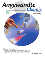 Innentitelbild  Paper Spray for Direct Analysis of Complex Mixtures Using Mass Spectrometry (Angew. Chem. 52010)