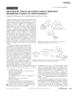 Integrating the Schrock and Grubbs Catalysts  RutheniumЦBinaphtholate Catalysts for Olefin Metathesis.