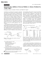 Intermolecular Addition of Glycosyl Halides to Alkenes Mediated by Visible Light.