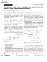 Intramolecular Anodic Olefin Coupling Reactions  Use of the Reaction Rate To Control SubstrateProduct Selectivity.