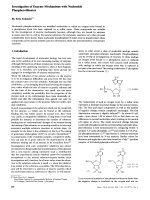 Investigation of Enzyme Mechanisms with Nucleoside Phosphorothioates.