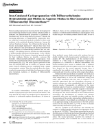 Iron-Catalyzed Cyclopropanation with Trifluoroethylamine Hydrochloride and Olefins in Aqueous Media  InSitu Generation of Trifluoromethyl Diazomethane.
