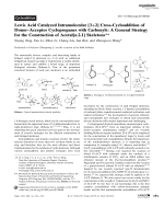 Lewis Acid Catalyzed Intramolecular [3+2] Cross-Cycloaddition of DonorЦAcceptor Cyclopropanes with Carbonyls  A General Strategy for the Construction of Acetal[n.2.1] Skeletons