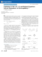 Limitations of the s(E+N) and Related Equations  Solvent Dependence of Electrophilicity.