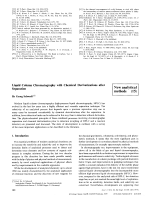 Liquid Column Chromatography with Chemical Derivatizations after Separation. [New analytical methods (15)]
