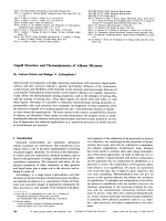 Liquid Structure and Thermodynamics of Alkane Mixtures.