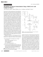 Mechanism of Glucose Isomerization Using a Solid Lewis Acid Catalyst in Water.