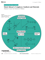 Metal Alkynyl  Complexes  Synthesis and Materials.