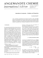 Metal-Boron Compounds Ц Problems and Perspectives.