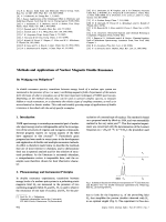 Methods and Applications of Nuclear Magnetic Double Resonance.