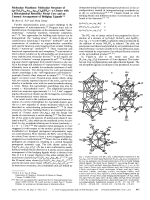 Molecular Machines  Molecular Structure of [(p-Tol3P)10Au13Ag12Cl8](PF7)Чa Cluster with a Biicosahedral Rotorlike Metal Core and an Unusual Arrangement of Bridging Ligands.