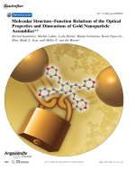 Molecular StructureЦFunction Relations of the Optical Properties and Dimensions of Gold Nanoparticle Assemblies.