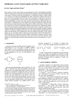 Multidentate Acyclic Neutral Ligands and Their Complexation.