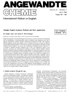Multiple Peptide Synthesis Methods and Their Applications. New Synthetic Methods (87)