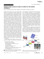 Multistep Microchemical Synthesis Enabled by Microfluidic Distillation.