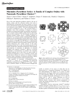 MurataiteЦPyrochlore Series  A Family of Complex Oxides with Nanoscale Pyrochlore Clusters.