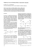 Neighboring Group and Substituent Effects in Organosulfur Compounds.