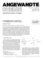 New Approaches to the Use of Amino Acids as Chiral Building Blocks in Organic Synthesis [New Synthetic Methods (85)].