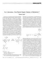 New CarbocationsЧFrom Physical Organic Chemistry to Biochemistry.