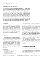 New Cisplatin AnaloguesЧOn the Way to Better Antitumor Agents.