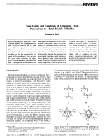 New Forms and Functions of Tellurium  From Polycations to Metal Halide Tellurides.
