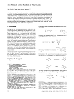 New Methods for the Synthesis of Vinyl Azides.