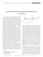 New Sequential Reactions with Single-Electron-Donating Agents.