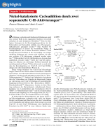 Nickel-katalysierte Cycloaddition durch zwei sequenzielle C-H-Aktivierungen.