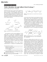 Nitrile Alkylations through SulfinylЦMetal Exchange.
