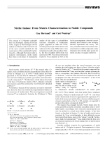 Nitrile Imines  From Matrix Characterization to Stable Compounds.