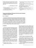 Nonenzymatic Simulation of Nitrogenase Reactions and the Mechanism of Biological Nitrogen Fixation.