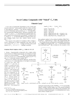 Novel Carbon Compounds with УNakedФ Cn Units.