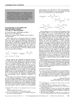 Novel Reactions of Acyl Halides with Bis(trimethylsilyl) Telluride  C Te and C C Bond Formation.