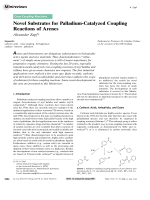 Novel Substrates for Palladium-Catalyzed Coupling Reactions of Arenes.