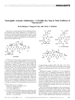 Nucleophilic Aromatic SubstitutionЧA Possible Key Step in Total Syntheses of Vancomycin.