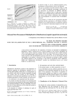 Old and New Processes of Multiplicative Distribution (Liquid-Liquid Extraction). A Comparison of the Methods of aterial Flow and the Mode of Action