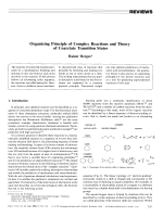 Organizing Principle of Complex Reactions and Theory of Coarctate Transition States.