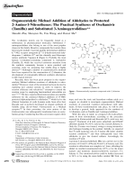 Organocatalytic Michael Addition of Aldehydes to Protected 2-Amino-1-Nitroethenes  The Practical Syntheses of Oseltamivir (Tamiflu) and Substituted 3-Aminopyrrolidines.
