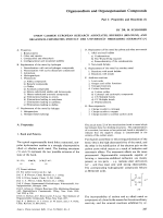 Organosodium and Organopotassium Compounds Part I  Properties and Reactions.