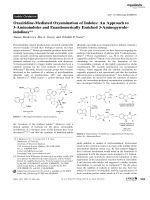 Oxaziridine-Mediated Oxyamination of Indoles  An Approach to 3-Aminoindoles and Enantiomerically Enriched 3-Aminopyrroloindolines.